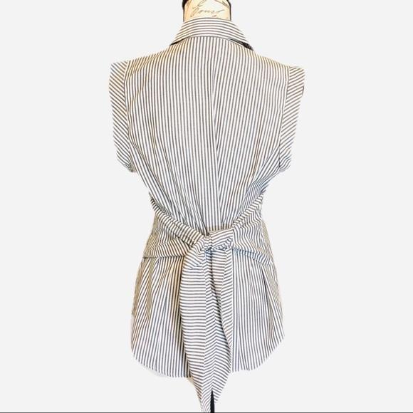 09f4bf85 Ann Taylor Tops - Ann Taylor | Striped Tie Waist button down blouse